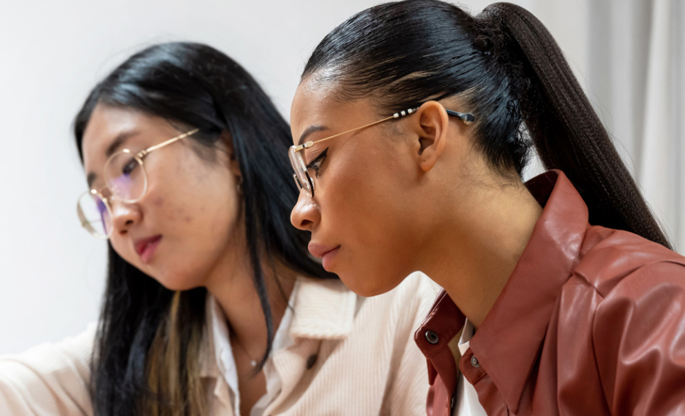 Women collaborating at work